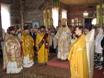 Служение епископа Серафима на престольном празднике